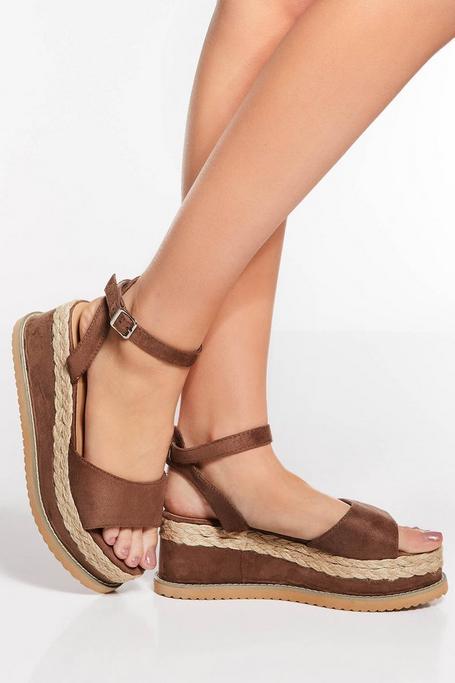 Sandalias de Cuña Marrones