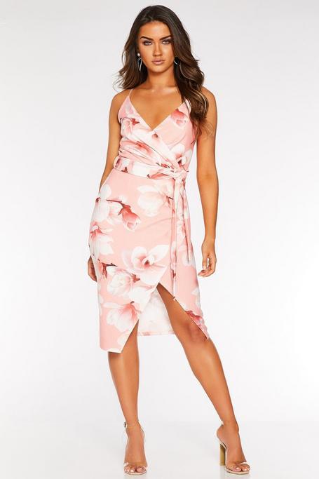 Vestido Coral con Estampado Floral