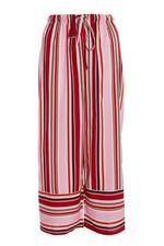 Pantalón Culotte Rosa y Rojo a Rayas
