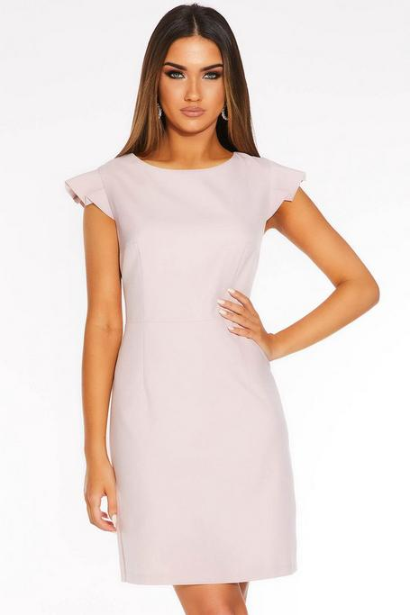 Dusky Pink Tie Back Dress