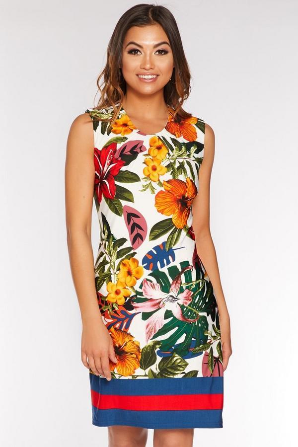 Vestido Floral Multicolor Estilo Túnica