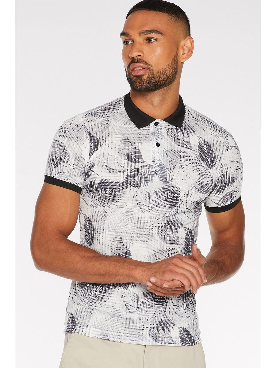 All Over Leaf Printed Polo