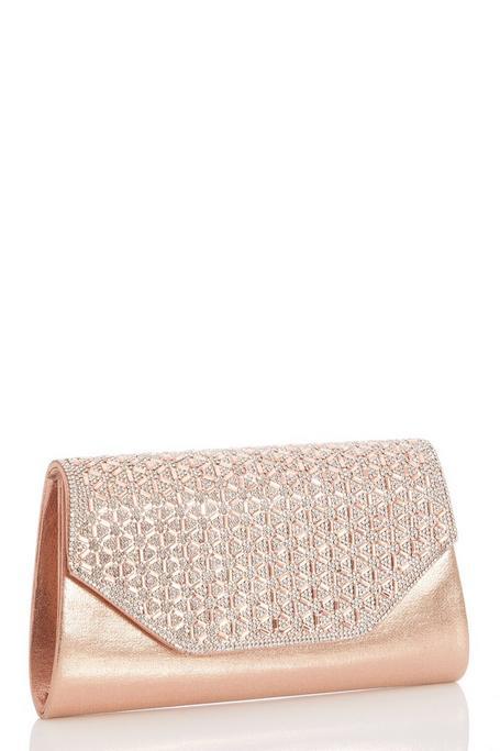 Bolso Oro Rosa con Brillantes
