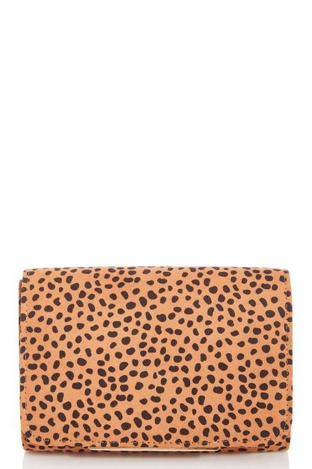 Bolso Clutch con Estampado de Leopardo