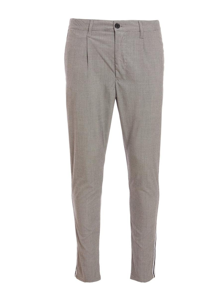 Dogtooth Check Trousers with Taping