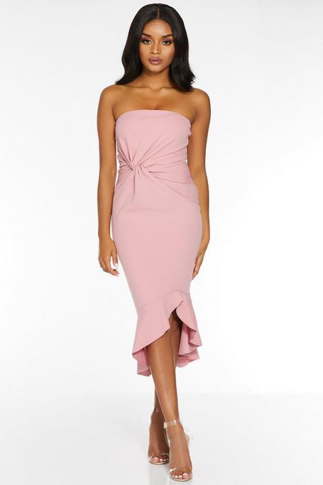 Vestido Petite Rosa Palabra de Honor