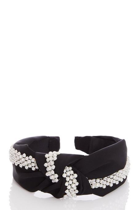 Black Pearl Knot Headband