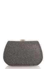 Black Diamante Front Box Bag