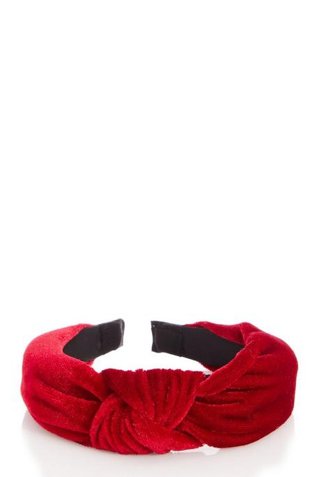 Red Velvet Knot Headband