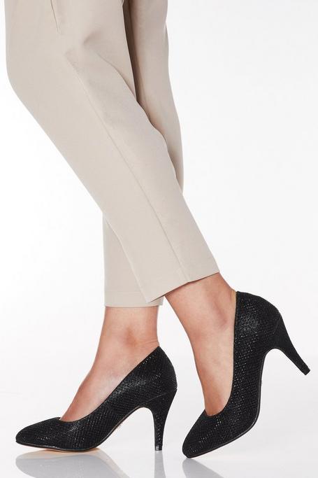 Zapatos de Tacón de Corte Ancho Negros