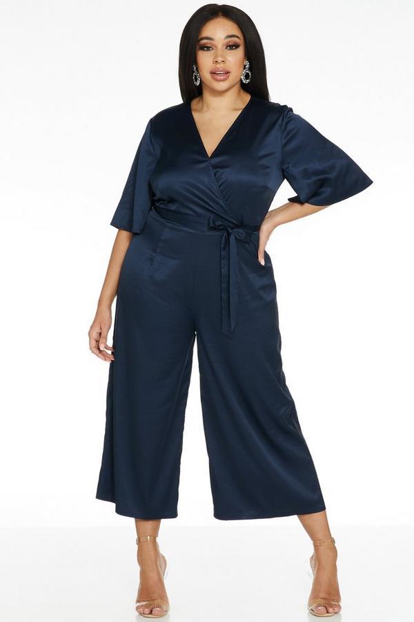 Mono Curve Culotte Azul Marino Satinado