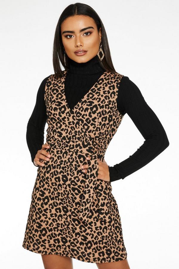 Picho Marrón con Estampado de Leopardo