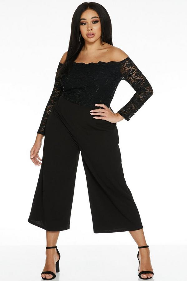 Mono Curve Negro Culotte con Encaje