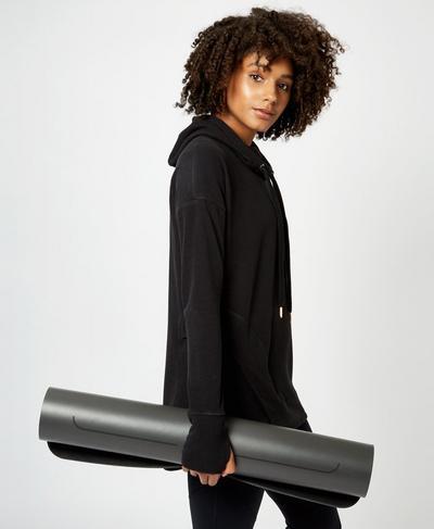 Liforme Yoga Mat, Charcoal | Sweaty Betty