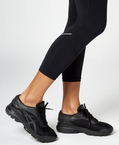 Asics Gel Kayano 25 Trainers, Black | Sweaty Betty