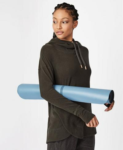 Liforme Travel Yoga Mat, BLUE | Sweaty Betty
