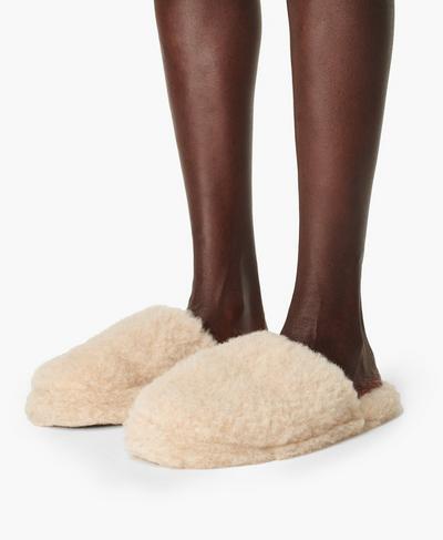 Yoko Wool Basic Slippers, Oatmeal | Sweaty Betty