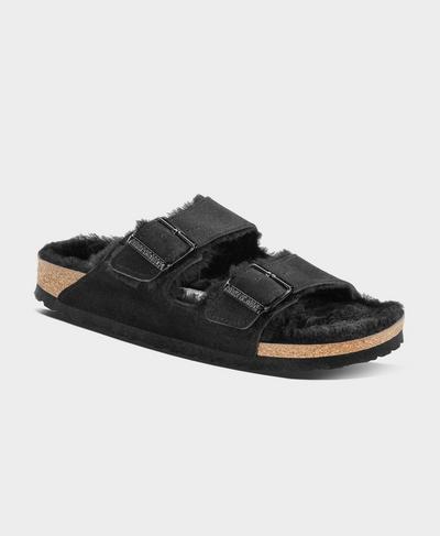 Arizona VL Sheepskin Sandals, Black   Sweaty Betty