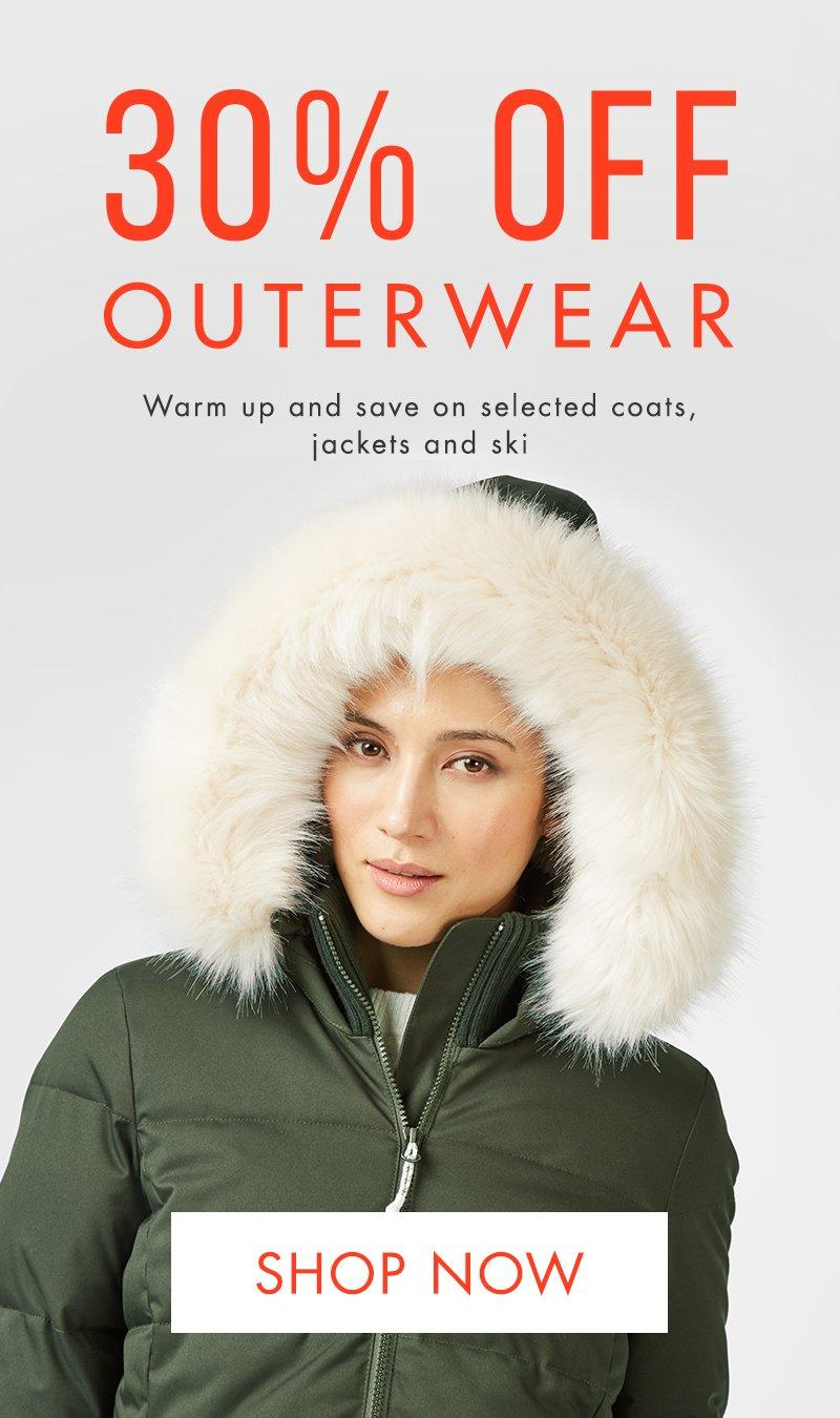 30% off outerwear.
