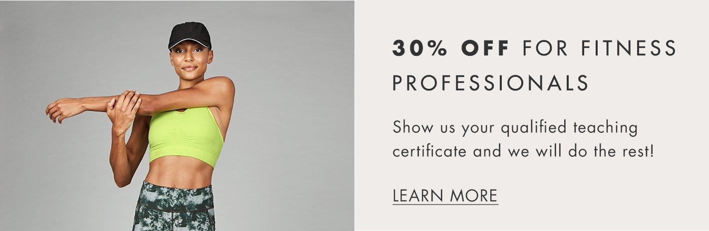 Fitness Professionals discount.