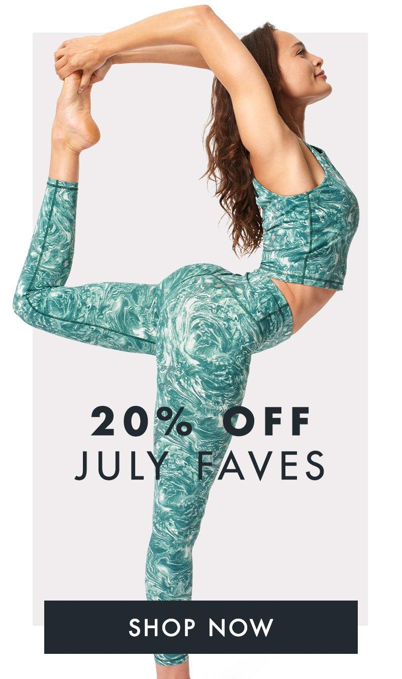 20% off July faves.
