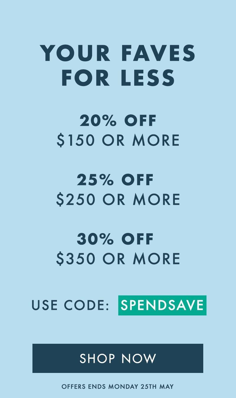 Spend and Save Content Spot