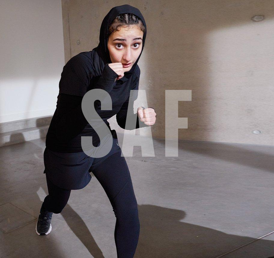 Meet Saf, the hijabi boxer showing young women the ropes