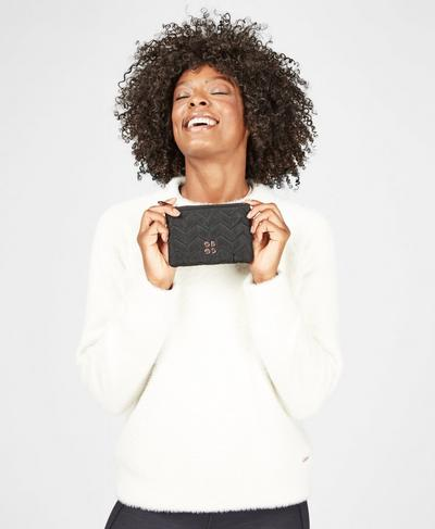 Icon Quilted Wallet, Black   Sweaty Betty