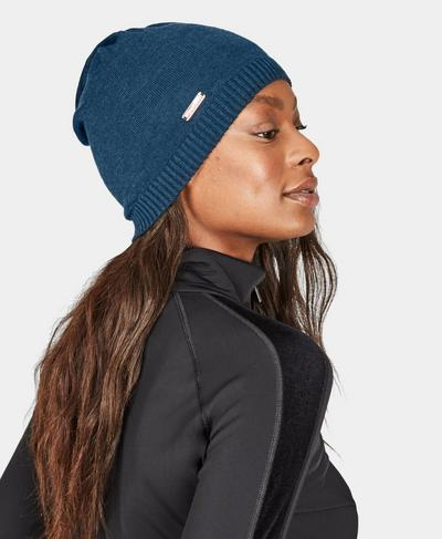 Rapid Merino Running Beanie, Beetle Blue | Sweaty Betty