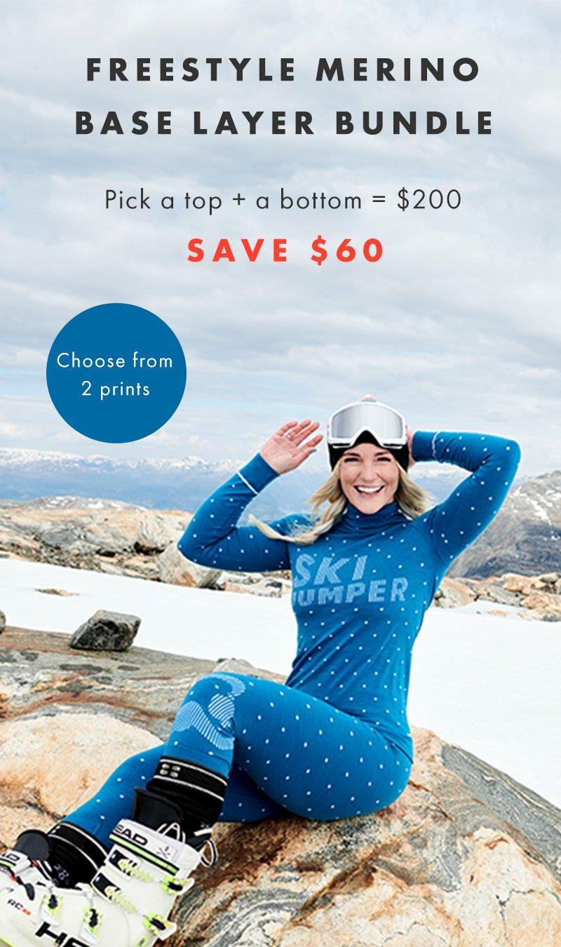 Merino Ski Base Layer Image US