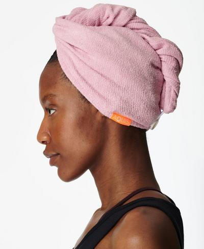 Aquis Hair Towel Wrap, PINK | Sweaty Betty