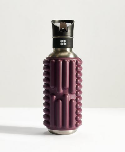 Mobot Foam Roller Water Bottle, Plum Red   Sweaty Betty