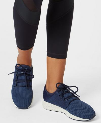 New Balance Fresh Foam Cruz Trainers, Dark Navy | Sweaty Betty