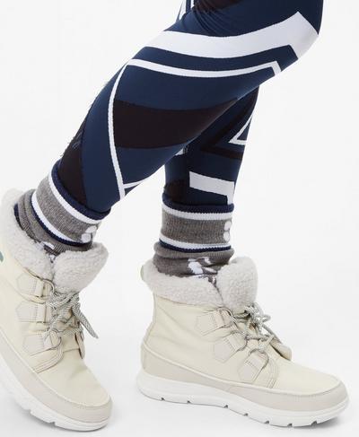 Sorel Explorer Carnival Snow Boots, White | Sweaty Betty