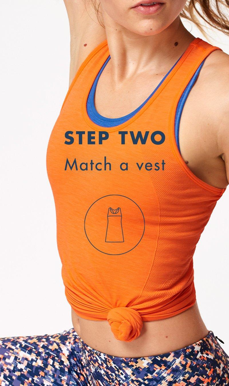 Step 2, match an athlete vest.