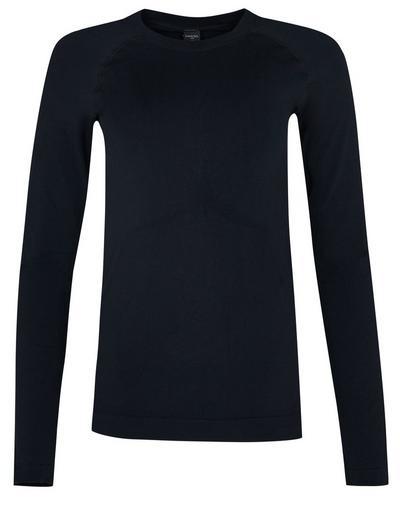 Glisten Bamboo Long Sleeve Workout Top, Black | Sweaty Betty