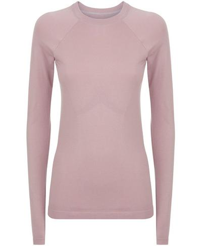 Glisten Bamboo Long Sleeve Workout Top, Velvet Rose | Sweaty Betty