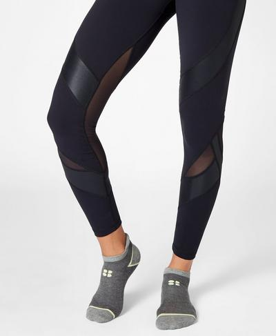 Trainer Liners, Castle Rock Marl Green Alert | Sweaty Betty