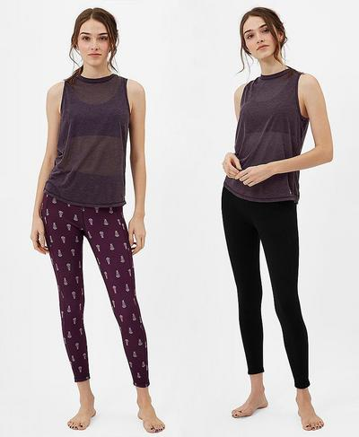 Reversible 7/8 Yoga Leggings, Ditsy Paisley Print | Sweaty Betty