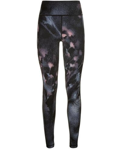 Reversible Yoga Leggings, Black Spray Paint Floral | Sweaty Betty