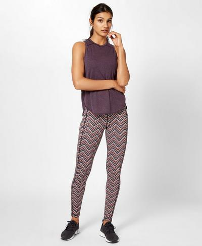 Reversible Yoga Leggings, Brixton Chevron Print | Sweaty Betty