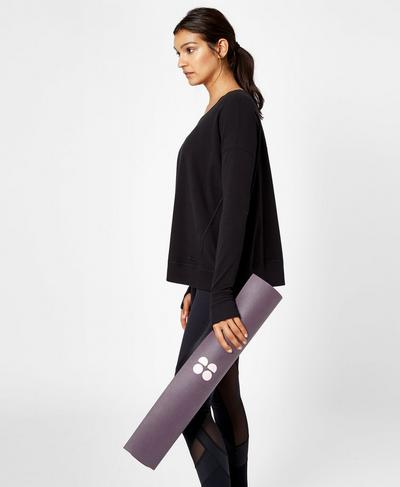 Super Grip Yoga Mat, Aubergine | Sweaty Betty