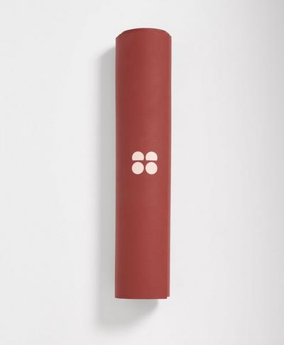 Super Grip Yoga Mat, Earth Red | Sweaty Betty