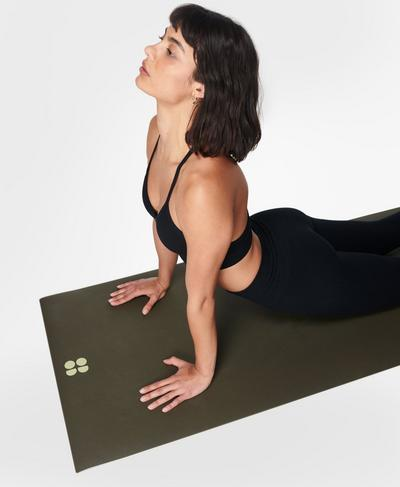 Super Grip Yoga Mat , Mountain Green | Sweaty Betty