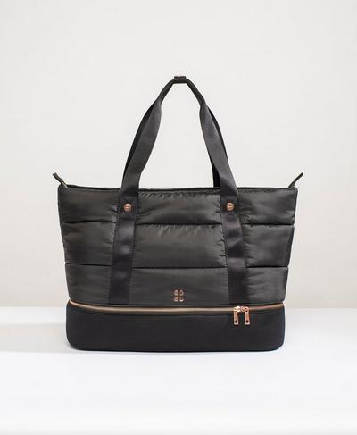 Quilted Luxe Gym Bag, Black | Sweaty Betty