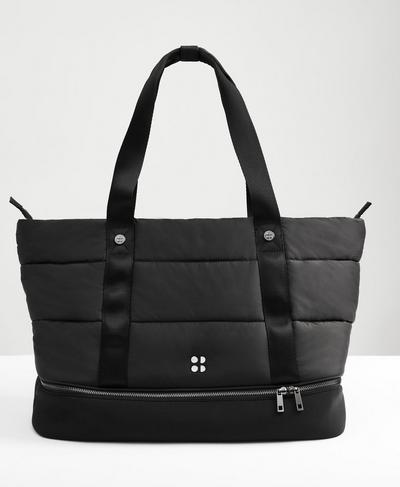 Icon Luxe Gym Bag, Black A | Sweaty Betty