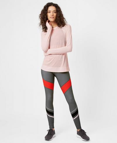 Breeze Merino Long Sleeve Run Top, Liberated Pink | Sweaty Betty