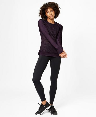 Breeze Long Sleeve Run Top, Aubergine | Sweaty Betty