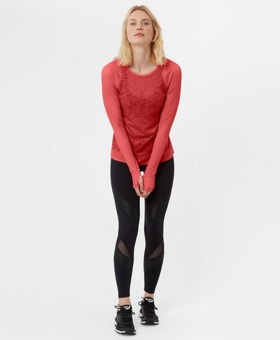 Breeze Long Sleeve Run Top, Rebel Red | Sweaty Betty