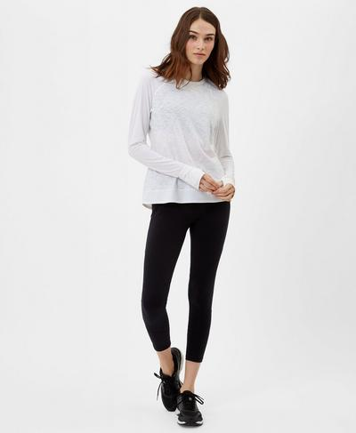 Breeze Long Sleeve Run Top, White | Sweaty Betty